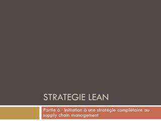 Strategie  Lean
