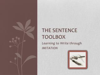 The Sentence Toolbox