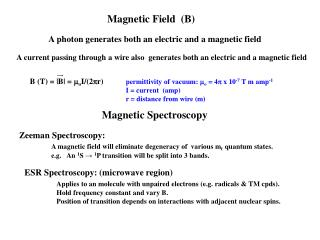 Magnetic Field  (B)