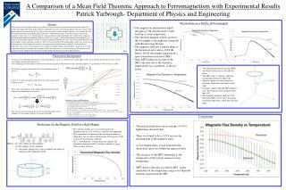 A Comparison of a Mean Field Theoretic Approach to Ferromagnetism with Experimental Results