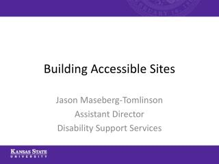 Building Accessible Sites