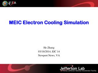 MEIC Electron Cooling Simulation