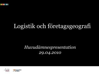 Logistik och företagsgeografi