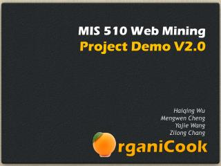 MIS 510 Web Mining Project Demo V2.0