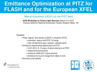 Emittance Optimization at PITZ for FLASH and for the European XFEL
