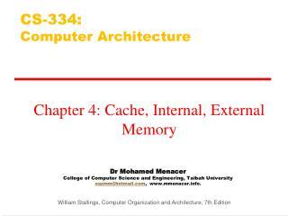 CS-334:  Computer Architecture