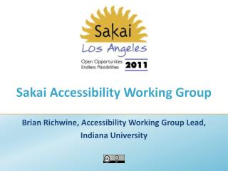 Sakai Accessibility Working Group