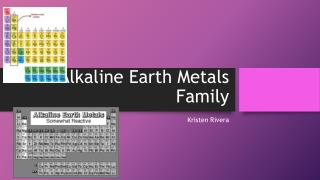 Alkaline Earth Metals Family