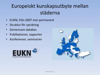 Europeiskt kunskapsutbyte mellan städerna