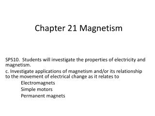 Chapter 21 Magnetism