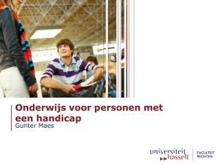 Onderwijs voor personen met  een handicap