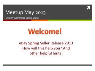 Meetup  May 2013
