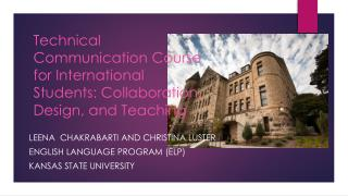 Technical Communication Course for International Students: Collaboration, Design, and Teaching