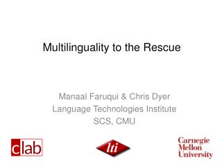 Multilinguality to the Rescue