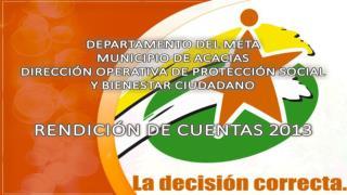 DIRECCION OPERATIVA DE PROTECCION SOCIAL Y BIENESTAR CIUDADANO