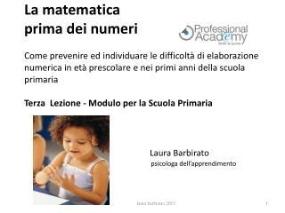 Laura Barbirato   psicologa dell'apprendimento