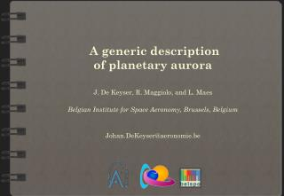 A generic description  of  planetary aurora