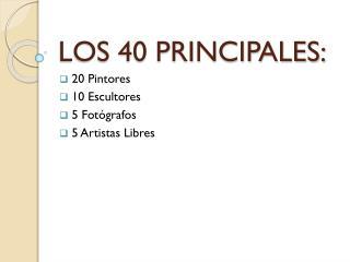 LOS 40 PRINCIPALES: