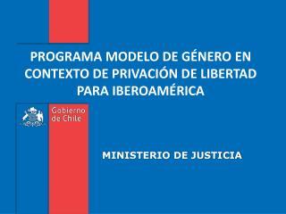 PROGRAMA MODELO DE GÉNERO EN CONTEXTO DE PRIVACIÓN DE LIBERTAD PARA IBEROAMÉRICA