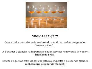 Vinhos laranjas
