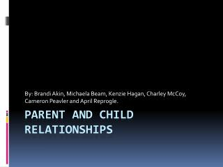 Parent and Child Relationships