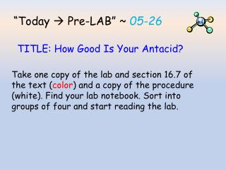 """Today    Pre-LAB "" ~  05-26"