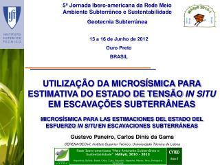 5 � Jornada Ibero-americana da Rede Meio Ambiente Subterr�neo e Sustentabilidade
