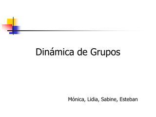 Dinámica  de Grupos Mónica, Lidia, Sabine, Esteban