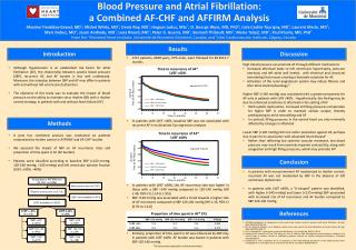 Blood Pressure and Atrial  Fibrillation: a  Combined AF-CHF and AFFIRM Analysis