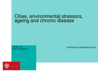 Cities, environmental stressors, ageing and chronic disease