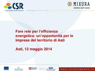 Fare rete per l�efficienza energetica: un�opportunit� per le imprese del territorio di Asti