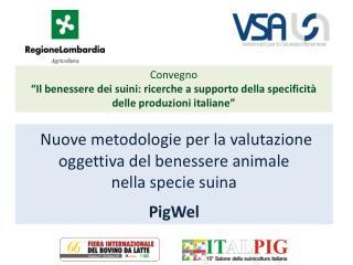 Nuove metodologie per la valutazione oggettiva del benessere animale  nella specie suina  PigWel