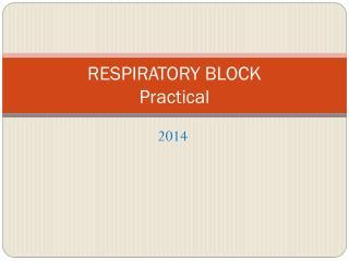RESPIRATORY BLOCK  Practical