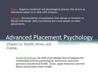 Advanced Placement Psychology