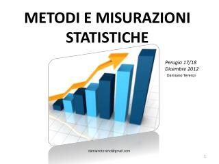 METODI E MISURAZIONI STATISTICHE