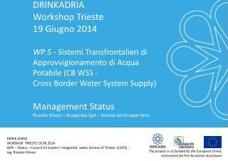 DRINKADRIA  Workshop Trieste