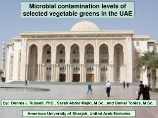 Microbial contamination levels of selected vegetable greens in the UAE