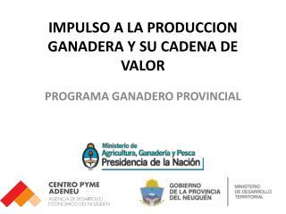 IMPULSO A LA PRODUCCION GANADERA Y SU CADENA DE VALOR