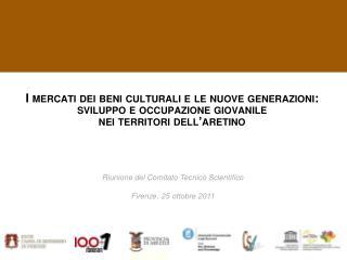 Riunione del Comitato Tecnico Scientifico Firenze, 25 ottobre 2011