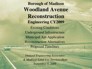 Borough of Madison Woodland Avenue Reconstruction Engineering CY2009