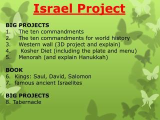 BIG PROJECTS The ten commandments  The ten commandments for world history
