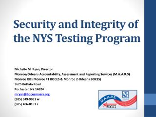 Security and Integrity of the NYS Testing Program