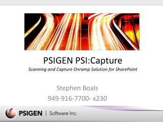 PSIGEN  PSI:Capture Scanning and Capture Onramp Solution for SharePoint