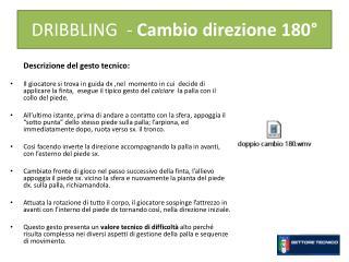 DRIBBLING  -  Cambio direzione 180°
