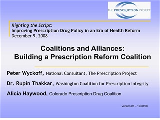 Righting the Script : Improving Prescription Drug Policy in an ...