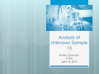 Analysis of Unknown Sample 15