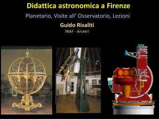 Didattica astronomica  a Firenze