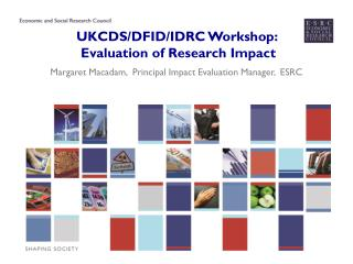 UKCDS/DFID/IDRC Workshop:   Evaluation of Research Impact