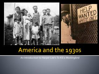 America and the 1930s
