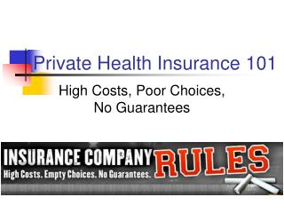 Private Health Insurance 101